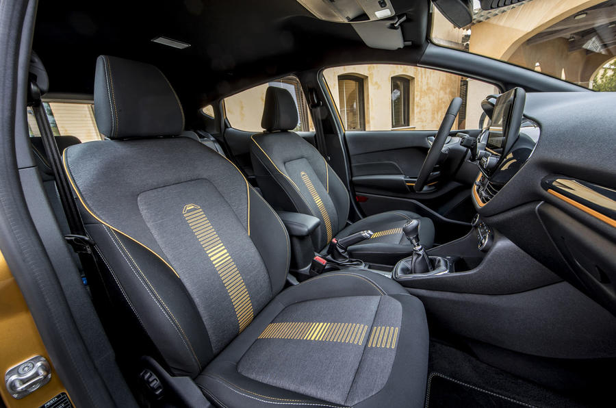Ford Fiesta Active 2018 road test review front seats