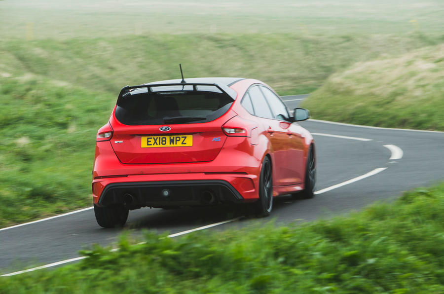 Ford Focus RS 2019 road test review - on the road rear