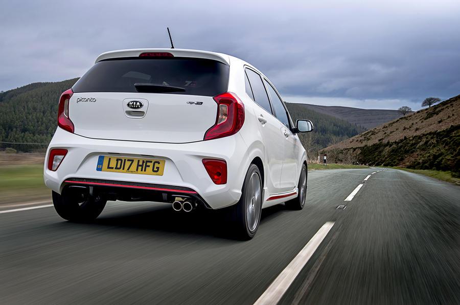 Kia Picanto review driving rear