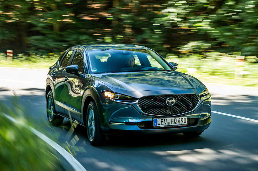 Mazda CX-30 2019 road test review - cornering front