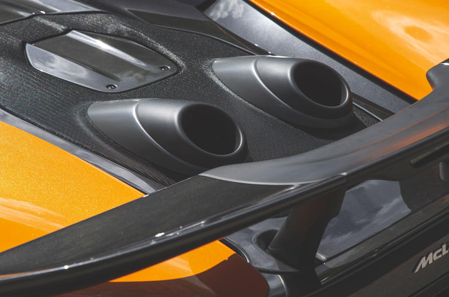 McLaren 600LT Spider 2019 road test review - exhausts