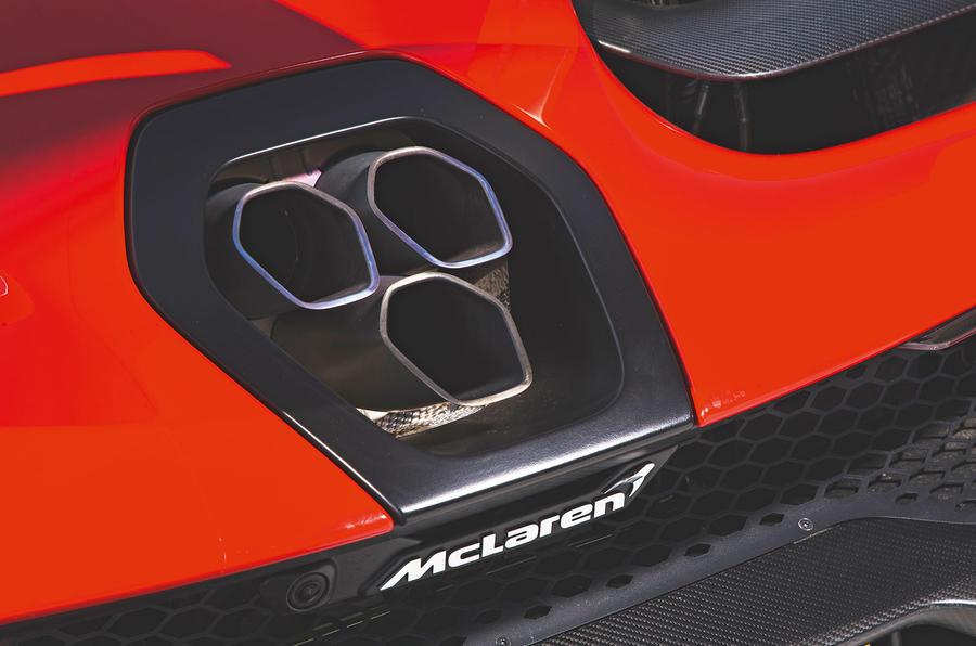 McLaren Senna 2018 road test review - exhaust