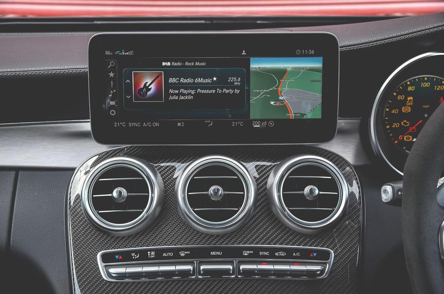 Mercedes-AMG C63 Coupé 2019 road test review - infotainment