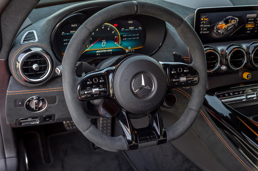 Mercedes-AMG GT Black Series road test review - steering wheel