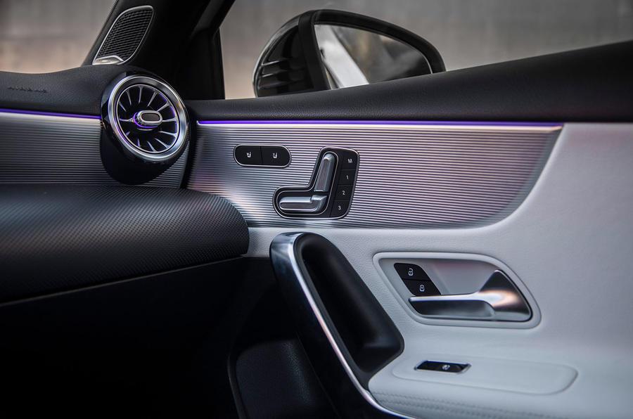 Mercedes-Benz A-Class saloon 2018 review - front door cards