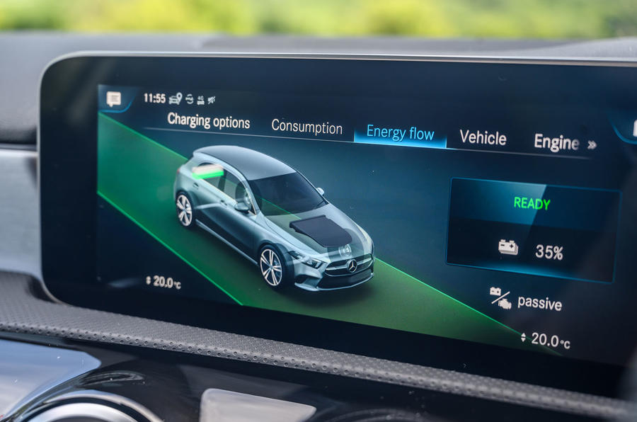 Mercedes-Benz A250e 2020 road test review - infotainment