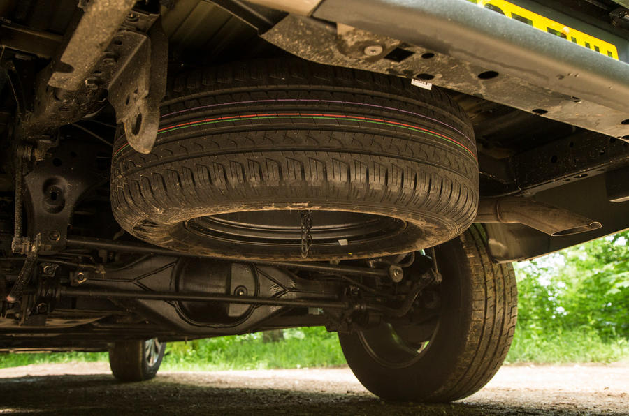Mercedes-Benz X-Class road test review spare wheel