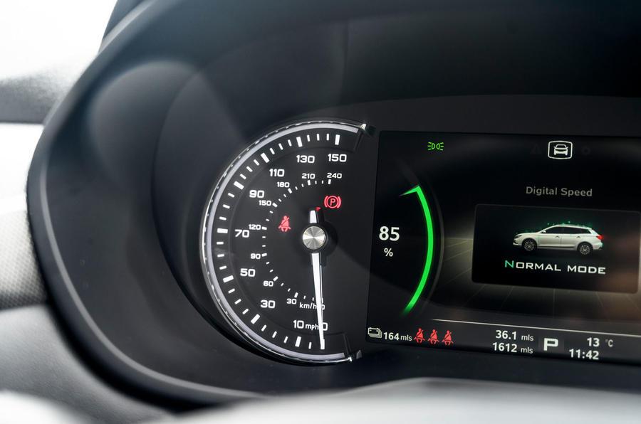 MG 5 SW EV 2020 Révision de l'essai routier - cadrans