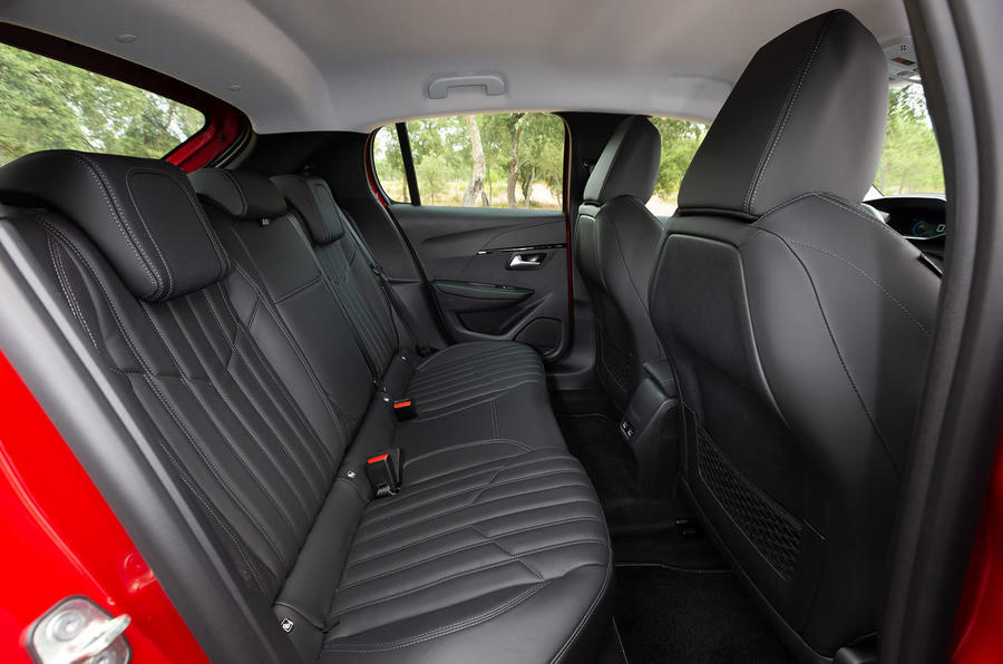 Peugeot 208 2020 road test review - rear seats