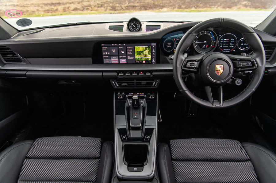 Porsche 911 Carrera S 2019 road test review - dashboard