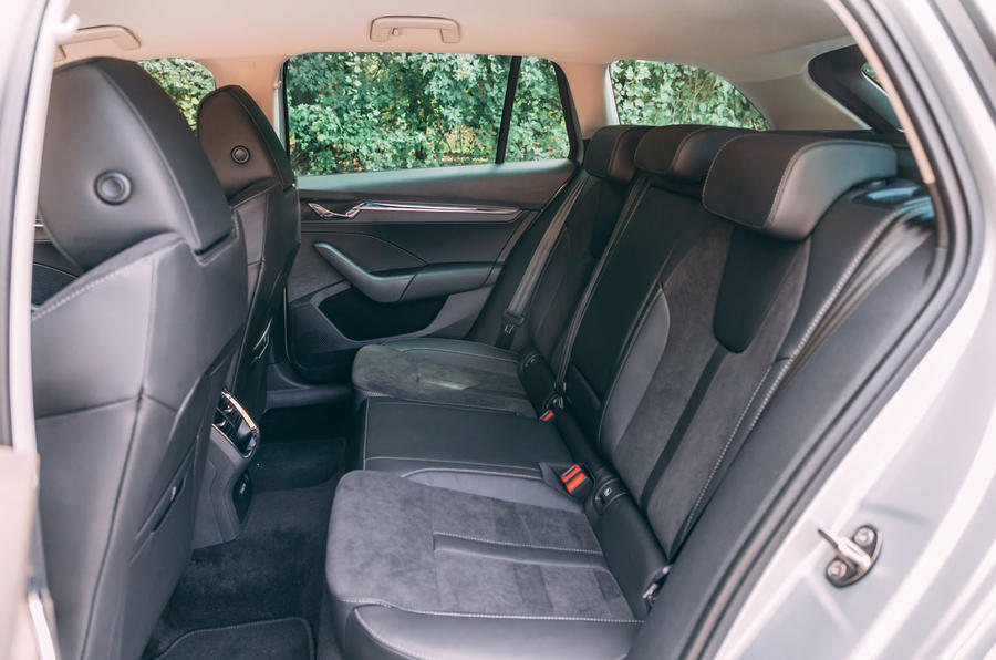 Skoda Octavia Estate 2020 road test review - rear seats
