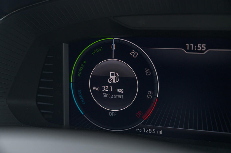 Skoda Superb iV 2020 road test review - eco instruments