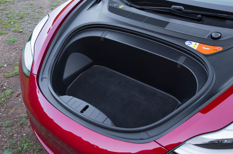 Tesla Model 3 2018 road test review front boot