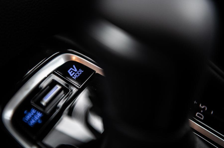 Toyota Corolla Touring Sports 2019 road test review - EV button