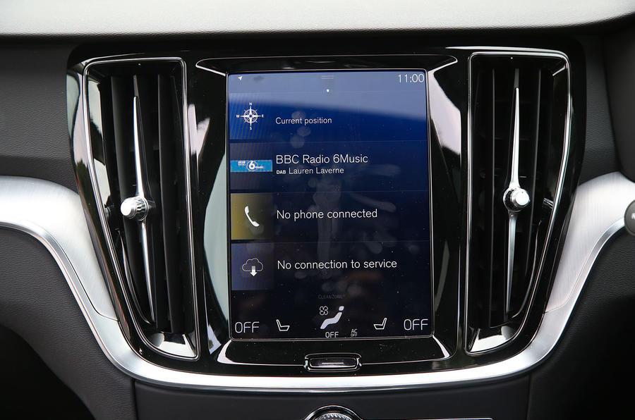 Volvo V60 2018 road test review infotainment