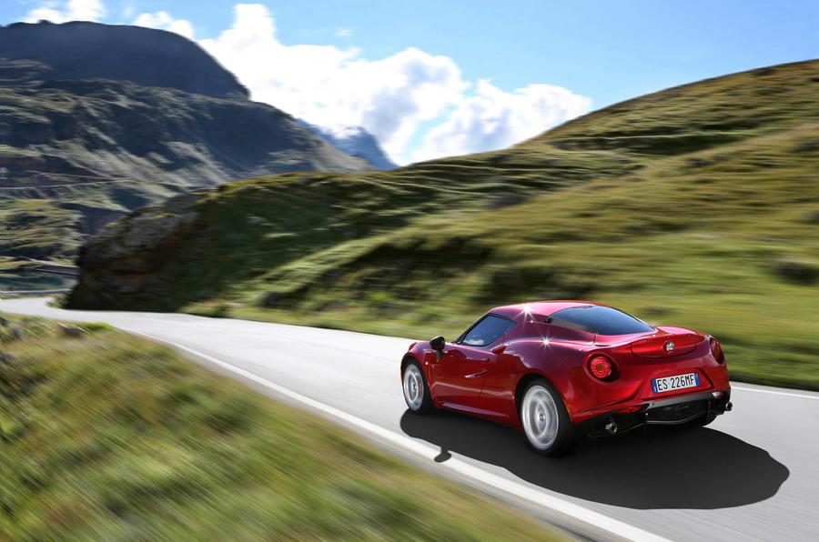 Alfa Romeo 4C spotted track testing