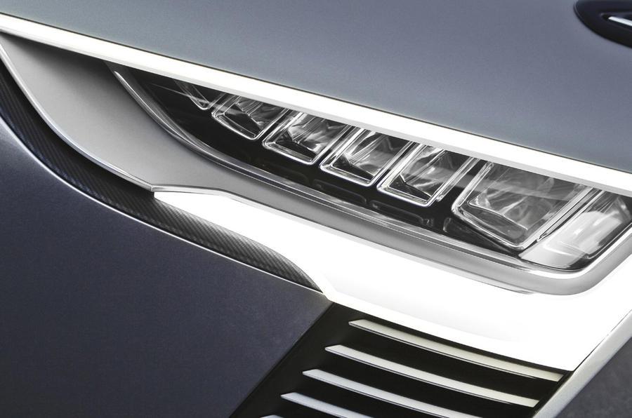 Audi e-tron Spyder LED headlights