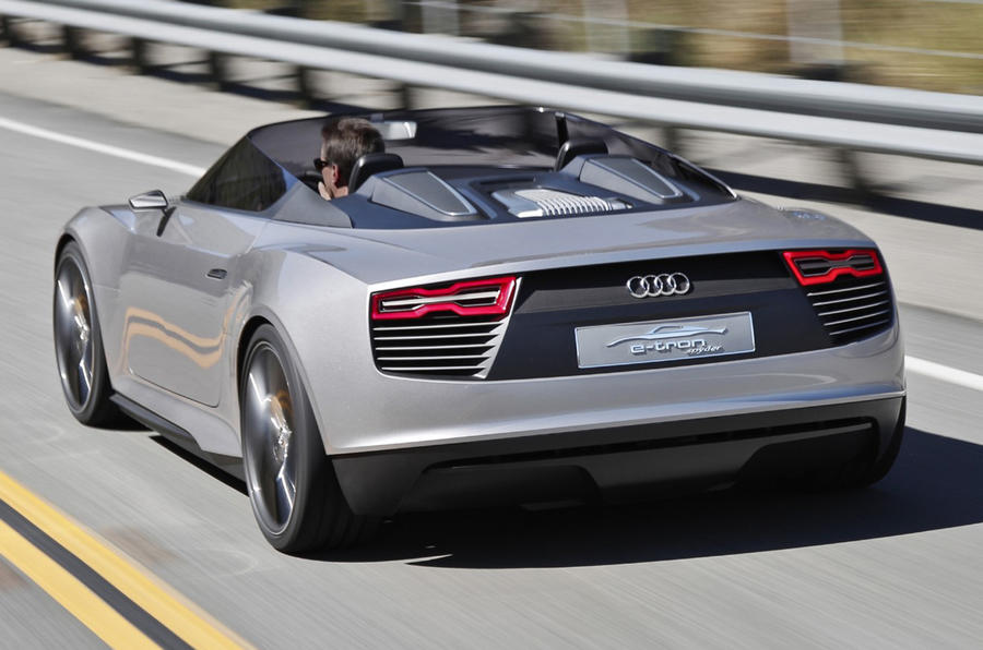Audi e-tron Spyder rear quarter