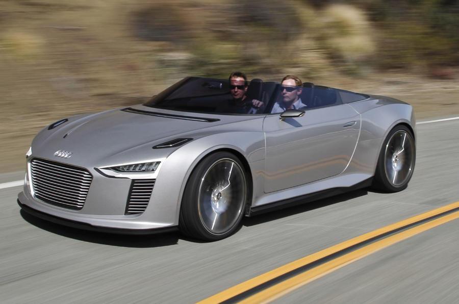 Audi e-tron Spyder roof down