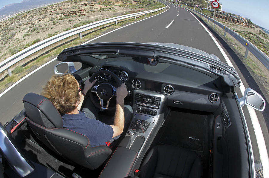 Driving the Mercedes-Benz SLK 250