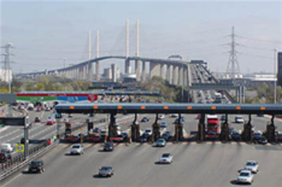 Dartford toll rises 50p