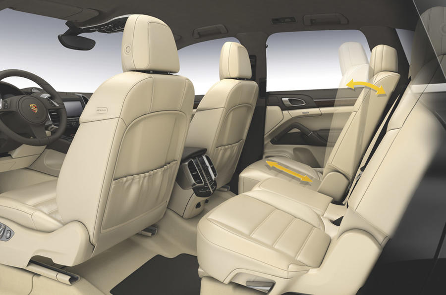 Porsche Cayenne Turbo rear seats