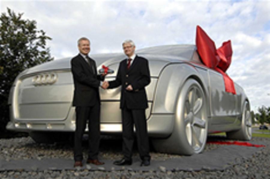 Ten-tonne Audi TT on display