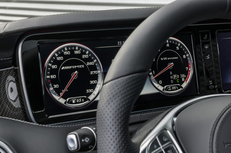 Mercedes-AMG S 63 Coupe paddle shifters