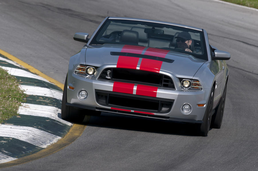 Ford Shelby GT500 Convertible on track