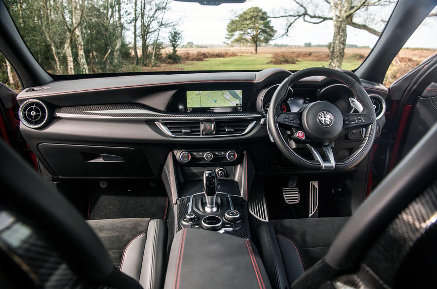 Alfa Romeo Stelvio Quadrifoglio 2019 road test review - dashboard