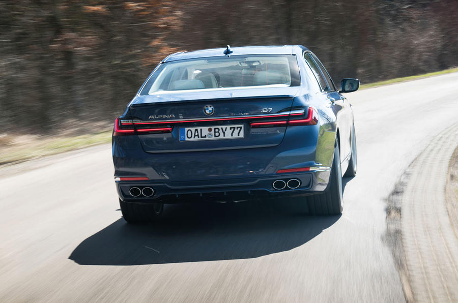 Alpina B7 2019 review - on the road rear