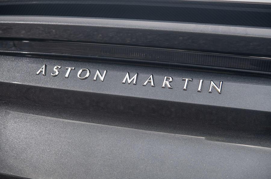Aston Martin DBS Superleggera 2018 road test review - rear badge