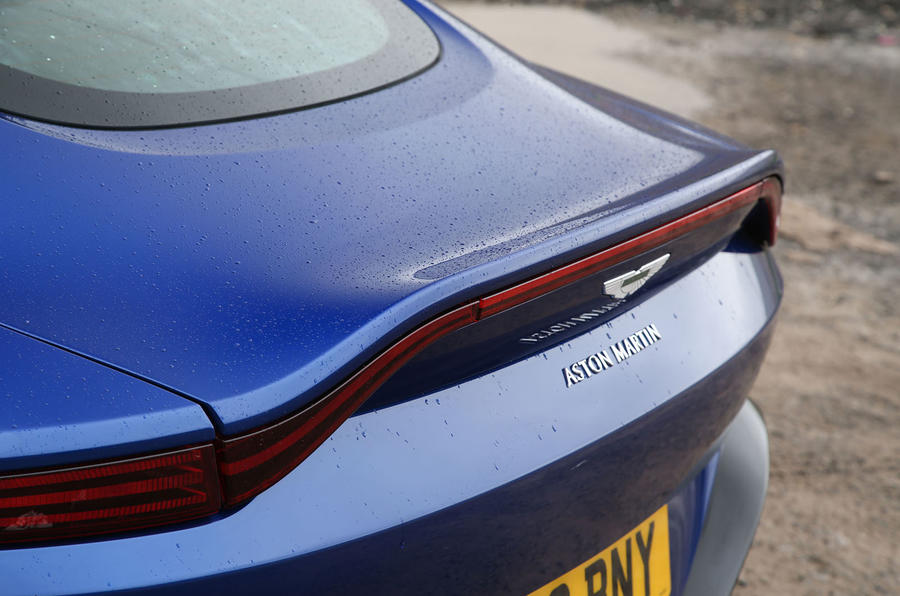 Aston Martin Vantage 2018 review lip spoiler