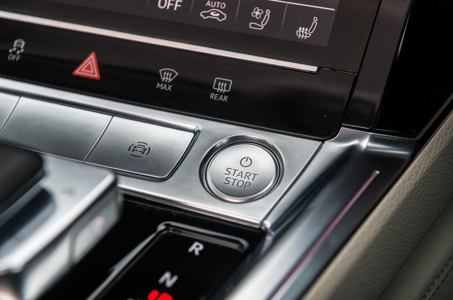 Audi E-tron 55 Quattro 2019 road test review - start button