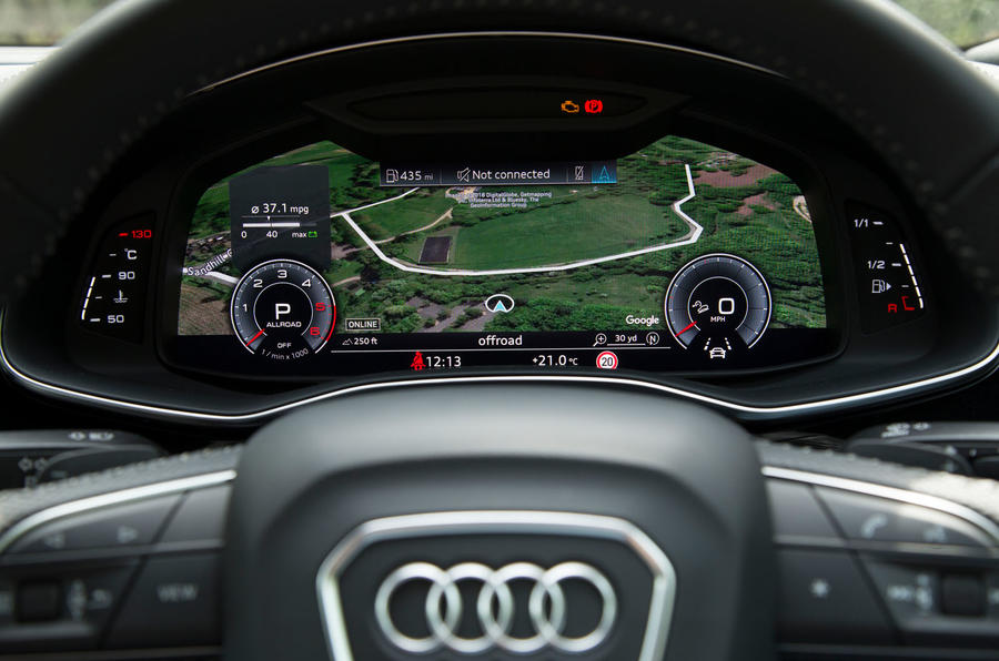 Audi Q8 50 TDI Quattro S Line 2018 road test review - instrument cluster