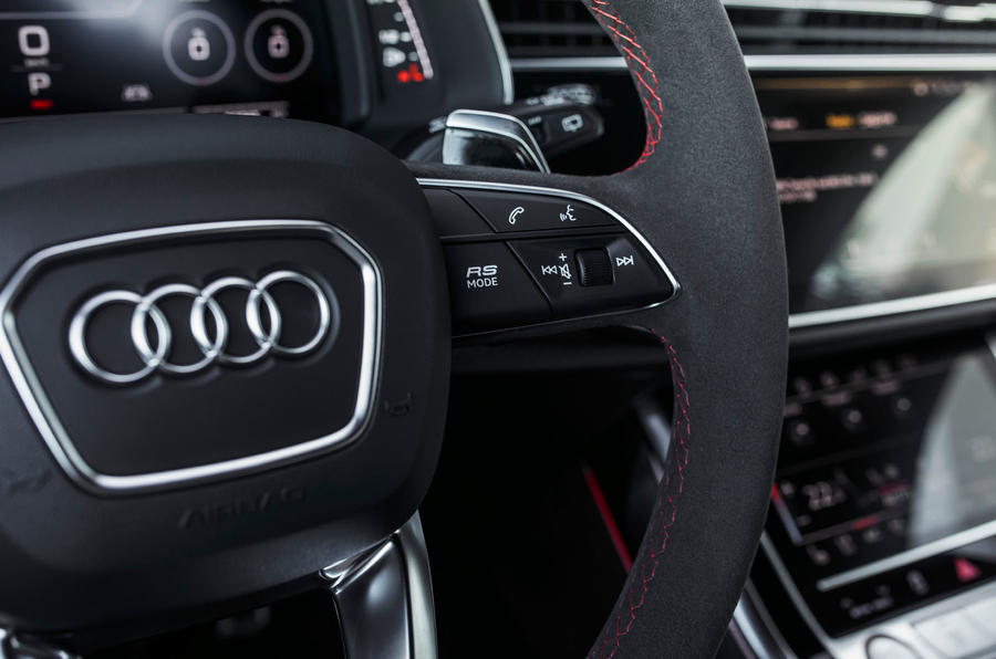 Audi RS Q8 2020 road test review - RS button