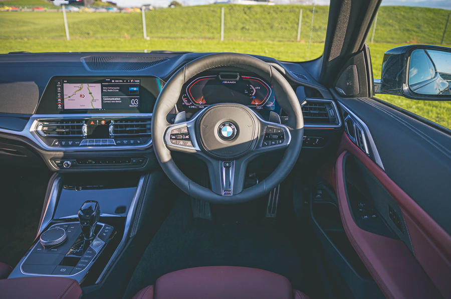 14 BMW 4 Series M440i road test review 2021 dashboard