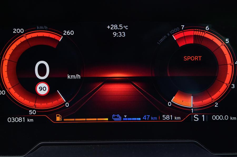 BMW i8 Roadster 2018 review digital instruments