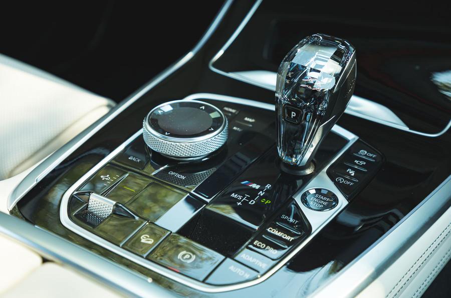 BMW X7 2020 : examen de l'essai routier - console centrale