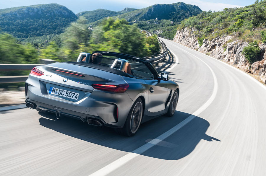 BMW Z4 2018 review - cornering rear