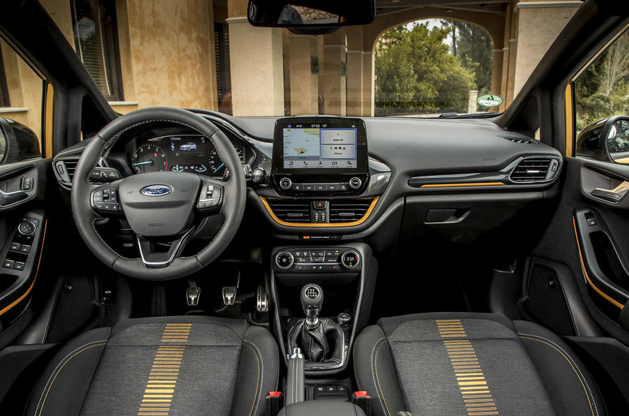 Ford Fiesta Active 2018 road test review dashboard