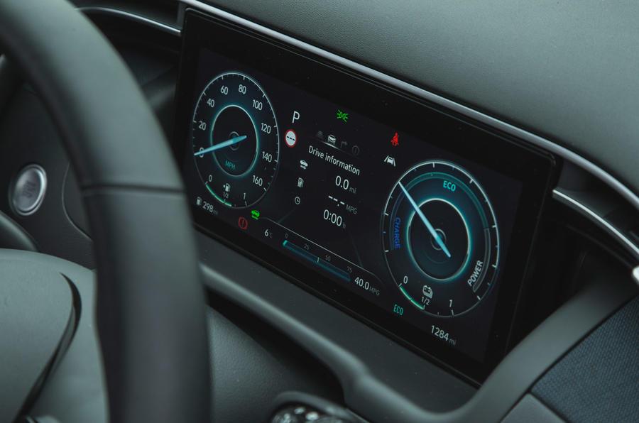 14 Hyundai Tucson 2021 : essai routier - instruments de mesure