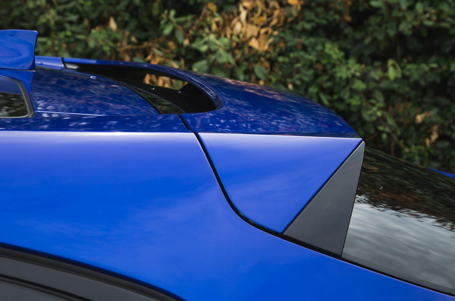 Jaguar I-Pace 2018 road test review rear spoiler