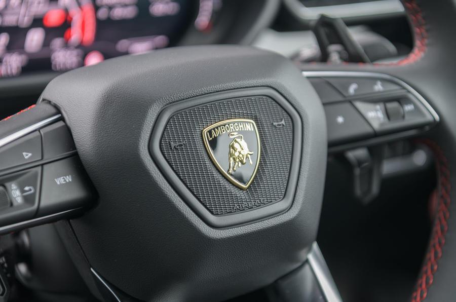 Lamborghini Urus 2019 road test review - steering wheel