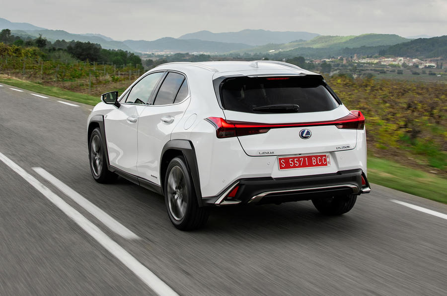 Lexus UX 2019 road test review - hero rear
