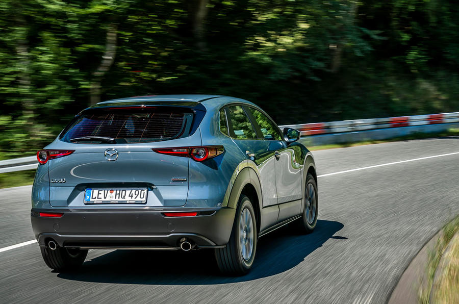 Mazda CX-30 2019 road test review - cornering rear