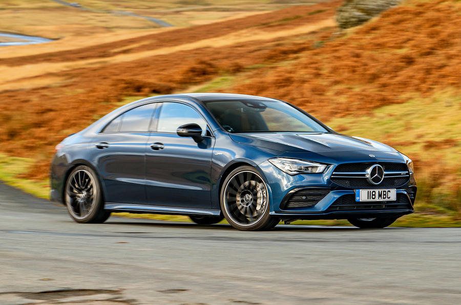 Mercedes-AMG CLA35 2020 road test review - on the road front
