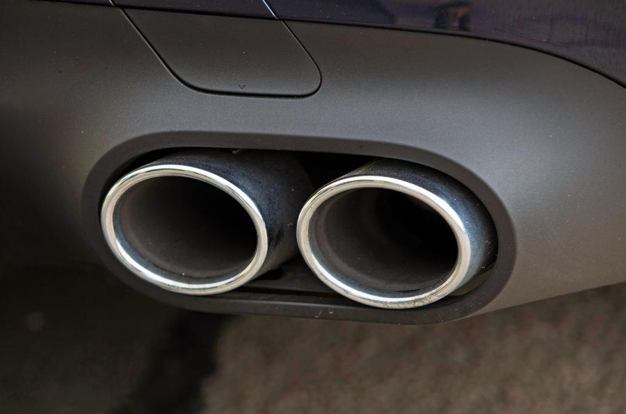 Mercedes-AMG CLS 53 2018 road test review - exhaust pipes