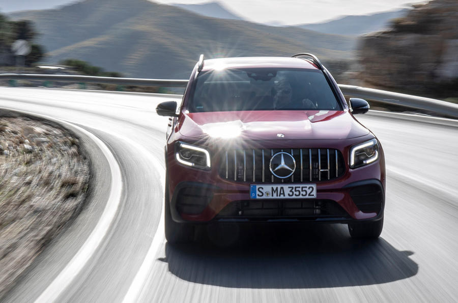 Mercedes-AMG GLB 35 2020 road test review - on the road nose
