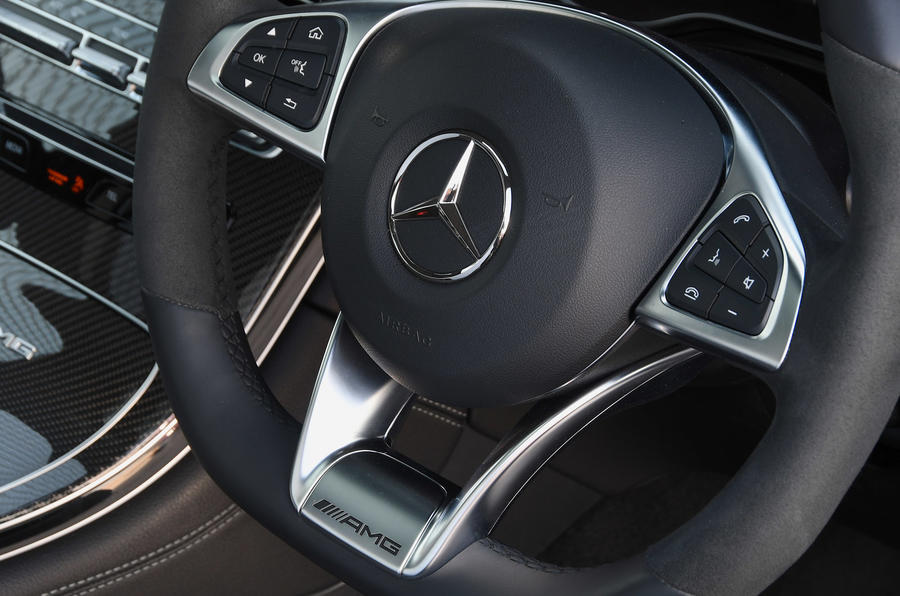 Mercedes-AMG GLC 63 S road test review steering wheel